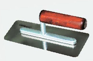 Stainless steel finishing trowels