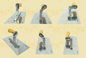 Universal rotating handle trowels